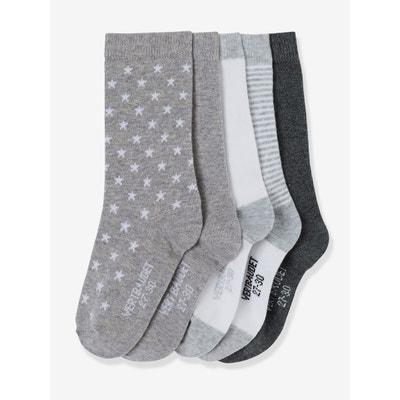 Lot de 5 paires de chaussettes fille VERTBAUDET