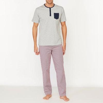 Pyjama avec pantalon à carreaux Pyjama avec pantalon à carreaux LA REDOUTE COLLECTIONS