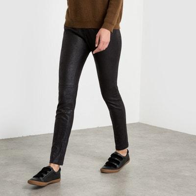 Slim Fit Satin Trousers with a Peach Skin Feel Slim Fit Satin Trousers with a Peach Skin Feel SEE U SOON