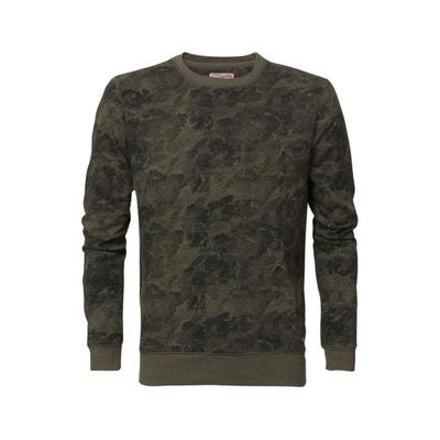 Cotton Mix Crew Neck Sweatshirt PETROL INDUSTRIES