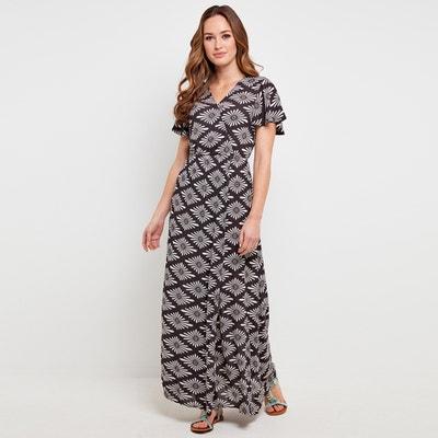 Платье длинное расклешенное с графическим рисунком Платье длинное расклешенное с графическим рисунком JOE BROWNS