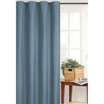 rideaux bleu petrole en solde la redoute. Black Bedroom Furniture Sets. Home Design Ideas
