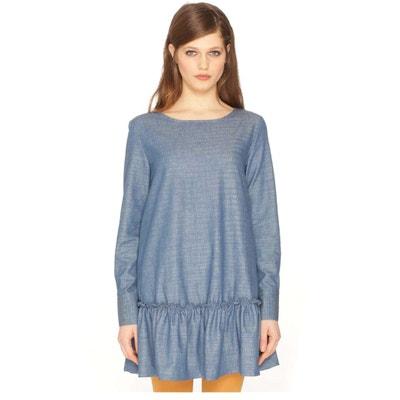 Cotton Dress with Peplum Hem Cotton Dress with Peplum Hem PEPALOVES