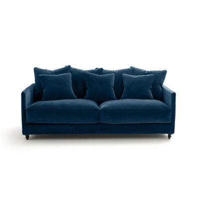 Canape convertible velours bleu | La Redoute