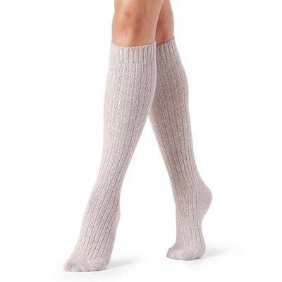 Chaussettes  longues à côtes en laine et cachemire CALZEDONIA