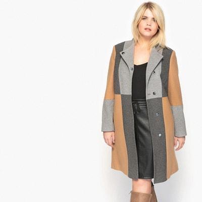 manteau droit motif patchwork CASTALUNA