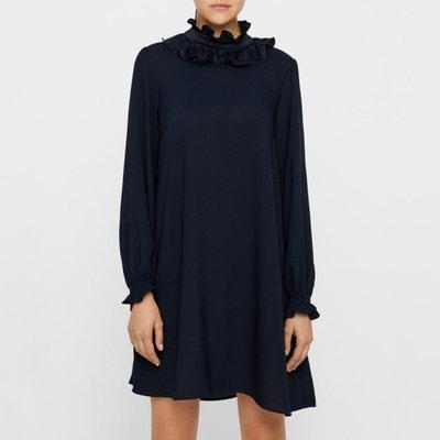 Kleid mit Stehkragen und Rüschen Kleid mit Stehkragen und Rüschen YAS