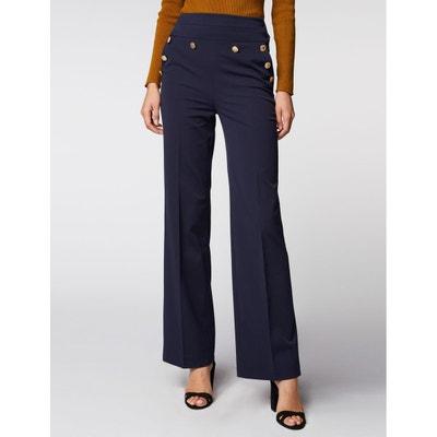 Pantalon taille haute évasé à boutons Pantalon taille haute évasé à boutons MORGAN