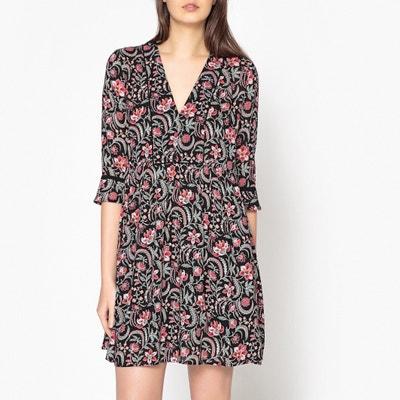 Haley Floral Print Short Dress BA&SH