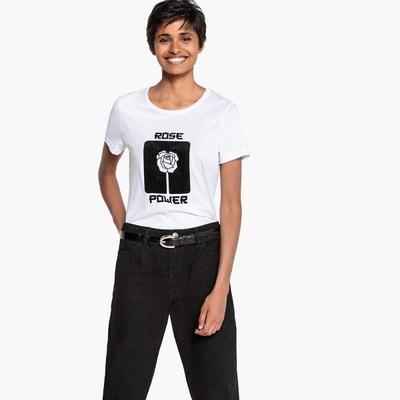 Tee-shirt flocké en velours La Redoute Collections