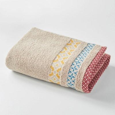 Maxi drap de bain EVORA, liteau coloré, en coton. La Redoute Interieurs