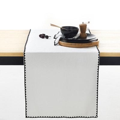 Lniano-bawełniany jednolity bieżnik stołowy ADRIO Lniano-bawełniany jednolity bieżnik stołowy ADRIO La Redoute Interieurs