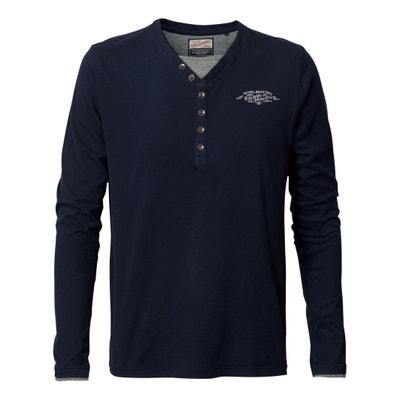 Camiseta con cuello redondo de manga larga y estampado Camiseta con cuello redondo de manga larga y estampado PETROL INDUSTRIES
