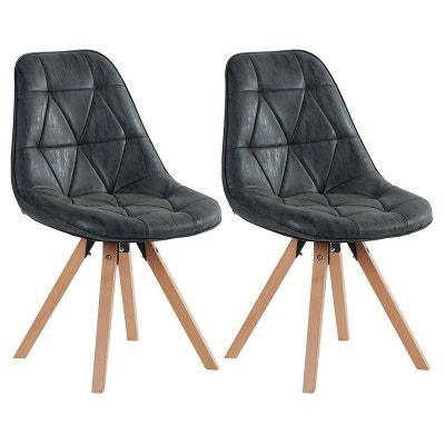 chaise scandinave capitonne maya lot de 2 chaise scandinave capitonne maya lot de - Chaise Scandinave Noir