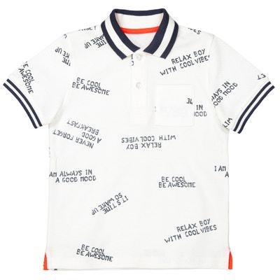 Poloshirt, Pikee, bedruckt, 3-12 Jahre Poloshirt, Pikee, bedruckt, 3-12 Jahre La Redoute Collections