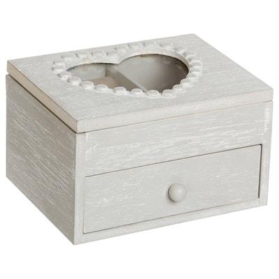 Boîte à bijoux Cœur - 1 tiroir - Gris Boîte à bijoux Cœur - 1 tiroir - Gris ATMOSPHERA
