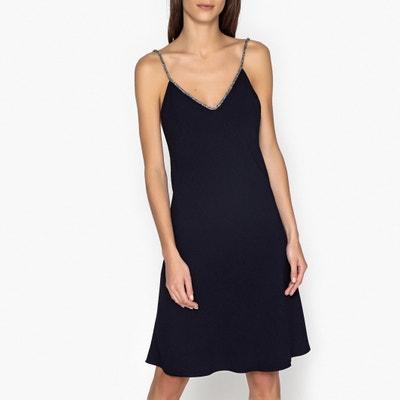 Slad Dress with Sparkly Shoestring Straps BA&SH