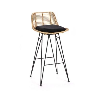 chaise de bar design en rotin 67cm capurgana chaise de bar design en rotin 67cm capurgana - Chaise Italienne Design