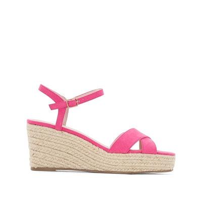 femme sandale chaussure sandalette rose vif or AHB51Z