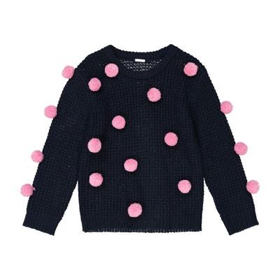 Pull maglia fine con pompons 3 - 12 anni Pull maglia fine con pompons 3 - 12 anni La Redoute Collections