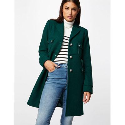 Manteau court vert femme