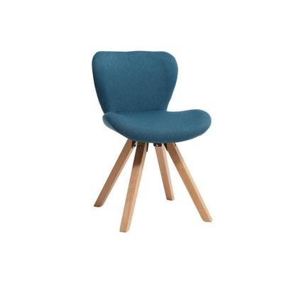 chaise scandinave tissu pieds bois anya chaise scandinave tissu pieds bois anya miliboo - Chaises Scandinaves Bleu
