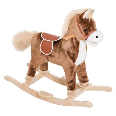 Cheval à bascule cowboy brun Cheval à bascule cowboy brun HOMCOM