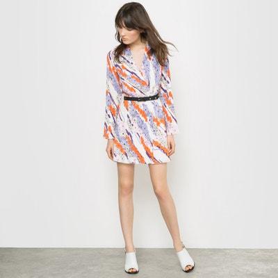 Vestido estampado y plisado Carven x La Redoute
