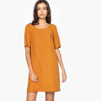 Sukienka w kropki z kontrastującym pasem z tyłu Sukienka w kropki z kontrastującym pasem z tyłu La Redoute Collections