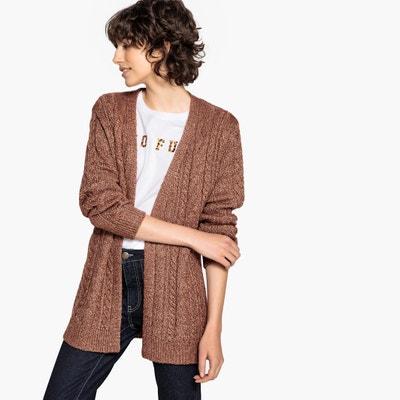 Cardigan in maglia brillante, trecce Cardigan in maglia brillante, trecce La Redoute Collections