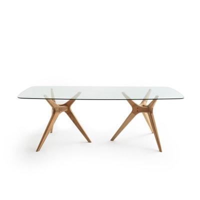 Rechthoekige tafel in glas/eikenhout Maricielo AM.PM.