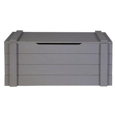 coffre 90x42x42 bois massif gris acier alfred et compagnie - Coffre A Jouets Banc