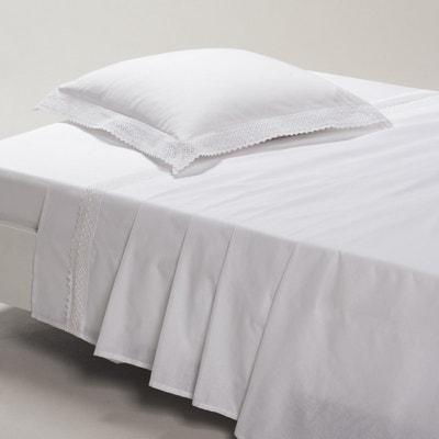 DENTELLE Lace Cotton Flat Sheet DENTELLE Lace Cotton Flat Sheet La Redoute Interieurs