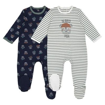 Lot de 2 pyjamas thème ours 0 mois - 3 ans Lot de 2 pyjamas thème ours 0 mois - 3 ans LA REDOUTE COLLECTIONS