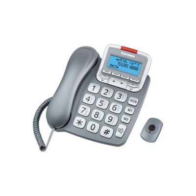 Téléphone filaire TELEFUNKEN TF591 Solo Gris TELEFUNKEN
