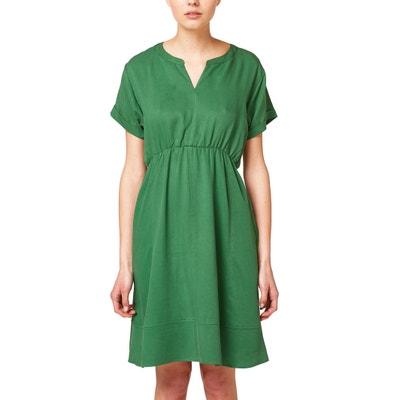 Flared V-Neck Dress ESPRIT