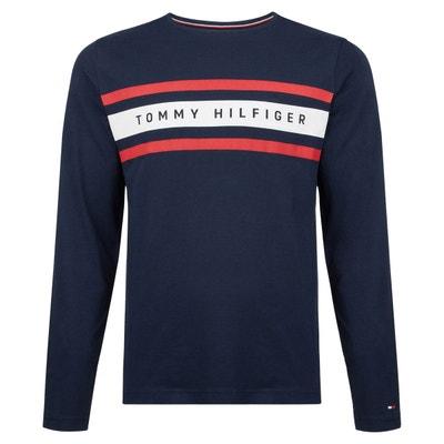 Tee shirt  col rond manches longues imprimé devant TOMMY HILFIGER