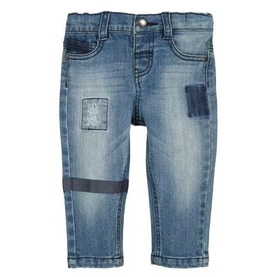 Rechte jeans met used effect 1 mnd - 3 jr Rechte jeans met used effect 1 mnd - 3 jr La Redoute Collections