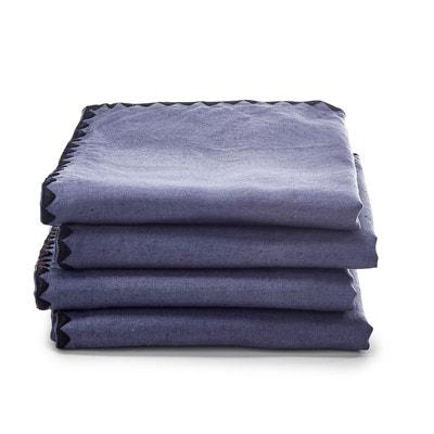 Serviettes métis coton lin ADRIO, lot de 4 La Redoute Interieurs