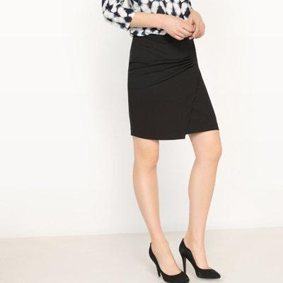 Straight-Cut Wrapover Skirt ESPRIT