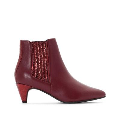 8dcbc032a179a Boots cuir détail paillettes Boots cuir détail paillettes LA REDOUTE  COLLECTIONS. Soldes