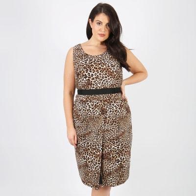 Kleid, gerade Form, bedruckt, halblang, ärmellos KOKO BY KOKO