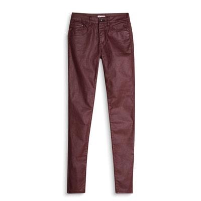 Coated Slim Fit Cigarette Trousers ESPRIT