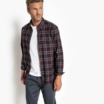 Recht geruit hemd met lange mouwen Recht geruit hemd met lange mouwen La Redoute Collections