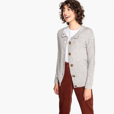 Cardigan lana d'agnello, scollo rotondo con bottoni Cardigan lana d'agnello, scollo rotondo con bottoni La Redoute Collections
