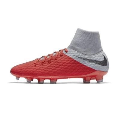 Chaussures football Nike Hypervenom Phantom III Academy DF FG Rouge Gris Chaussures  football Nike Hypervenom 6784d11aa427