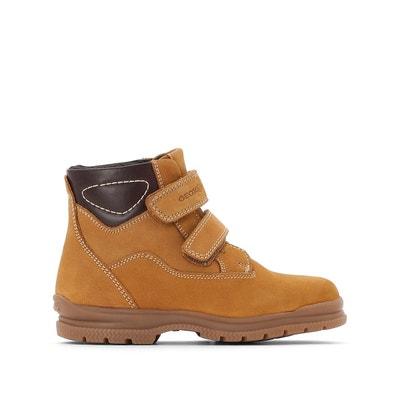 Boots cuir à scratch J Navado Boy C Boots cuir à scratch J Navado Boy C GEOX