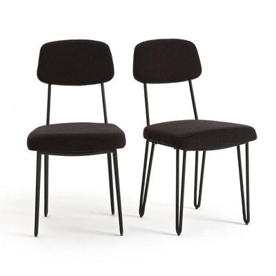 chaise vintage mtal lot de 2 daffo la redoute interieurs - Chaise Annee 50