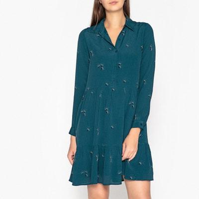 Bedrucktes Kleid ELSA PISSENLIT, lange Ärmel Bedrucktes Kleid ELSA PISSENLIT, lange Ärmel JOLIE JOLIE PETITE MENDIGOTE
