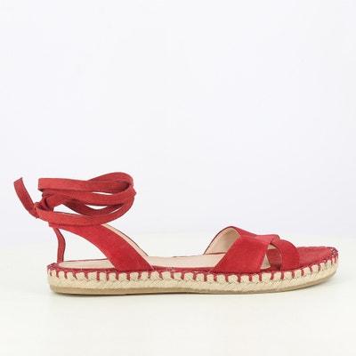Skórzane sandały na płaskim obcasie Skórzane sandały na płaskim obcasie JONAK